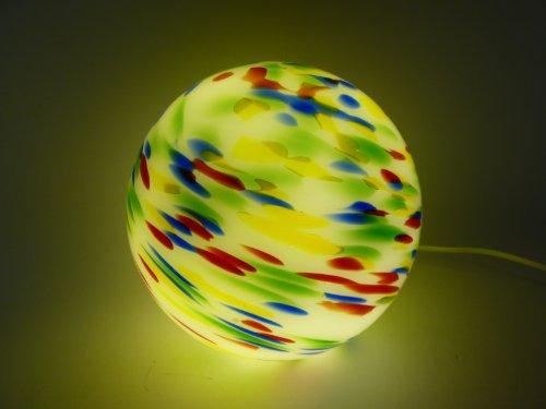 Vollglas Kugelleuchte Jupiter Tischleuchte Bodenleuchte mundgeblasenes Opalglas, auch für Energiespar- LED- Leuchtmittel geeignet, E14 max. 40W (Opalglas-tischleuchte)