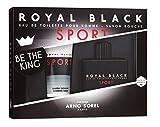Il kit da regalo per gli uomini ROYAL BLACK SPORT: La fragranza (Eau de toilette) 100 ml + il Sapone per la doccia 100 ml di ARNO SOREL