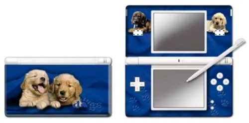 Nintendo DS Lite - Modding Skin -Two Blue Dogs-