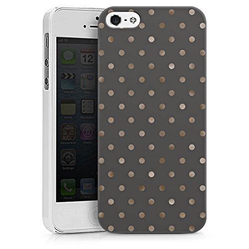 Apple iPhone 7 Plus Hülle Case Handyhülle Punkte Muster Silber Punkte Hard Case weiß
