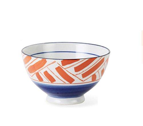Assiette à salade en céramique de style japonais créative peinte à la main avec glaçure en céramique