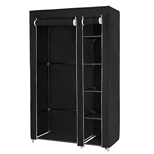 Songmics armadio cabina guardaroba appendiabiti in acciaio tessuto 175 x 110 x 45 cm lsf007