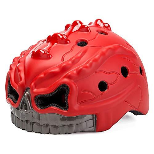 QYWSJ Led Fahrradhelm, Einstellbar, Idealer Schutz FüR Radfahren Und Andere Outdoor-AktivitäTen, FüR BMX Skateboard Scooter, Komfortable Polsterung Und BelüFtung