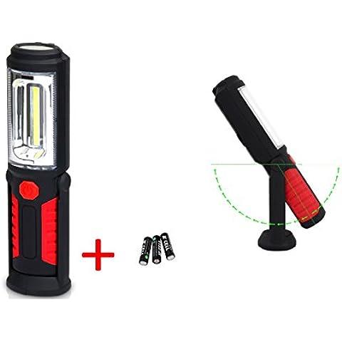 Vicloon - COB LED Portátil Lámpara Recargable Foco/Camping/Emergencia/Mecánico