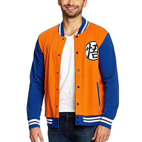 Dragon Ball Z College Jacke Goku Elbenwald orange blau - M - Shirt Majin Buu