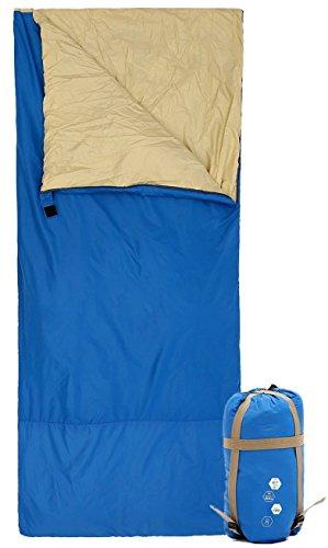 """Ohuhu® 75 """"x 34"""" Saco de Dormir con una Bolsa de Transporte para Temperaturas 48 F a 59 F"""