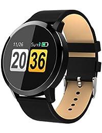 Smartwatch, OUKITEL W2 Fitness Tracker Braccialetto Sport Uomo Donna Pedometro per Android iOS Notifiche Messaggio Alta risoluzione Touch Screen (W1-Negro)