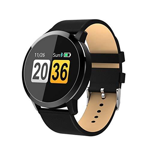 OUKITEL Smartwatch Bluetooth Wasserdicht, W1 Intelligente Armbanduhr Fitness Tracker Armbänder Touchscreen Lange Standby-Zeit Kompatibel mit iOS und Android Handy -