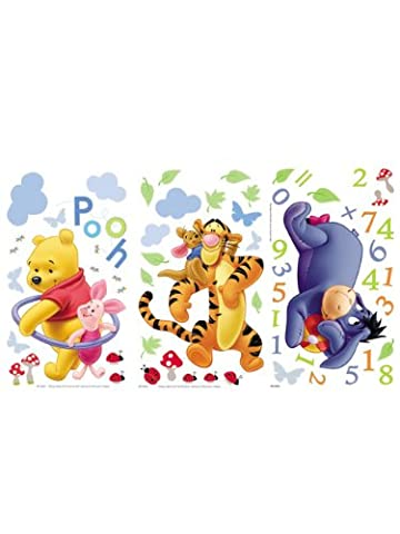 Winnie The Pooh Numbers Wall Stickers by Disney
