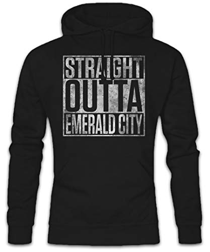 Urban Backwoods Straight Outta Emerald City Hoodie Kapuzenpullover Sweatshirt Größen S – 2XL