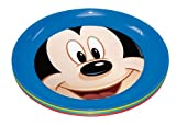 Stor Four Seasons - Set de 4 platos, diseño Mickey Mouse