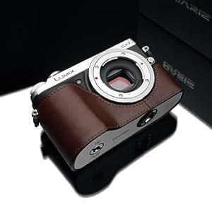 Gariz Demi-étui en cuir pour appareil photo Panasonic Lumix GX7 Marron