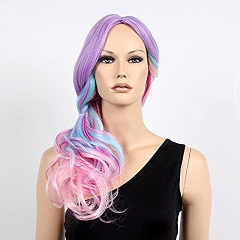 stfantasy Perücken für Frauen Lang Gewellt hitzbeständige Kunsthaar 58,4cm 267g Full Wig peluca frei Hair Net + Clips, (Old English Kostüm)