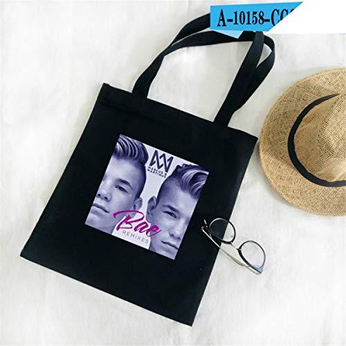 EAGLE_STORE Marcus Martinus Shoulder Bag Print Decompression Tote Bag Women Cotton Casual Funny Bag Fashion Canvas Shopping Bag -