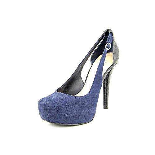 Guess Jacoba 2 Daim Sandales Compensés Dark Blue