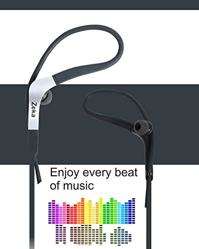 Neon Series Sports Earhook Headset with Mic Compatible For Micromax Joy F145 -Hot Grey  available at amazon for Rs.325