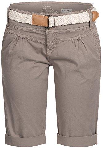 Fresh Made Femme Cuba Chino Shorts Bermuda Pantalon Avec Ceintur D6053Z60080 Pastel XS S M L XL Middle Brown