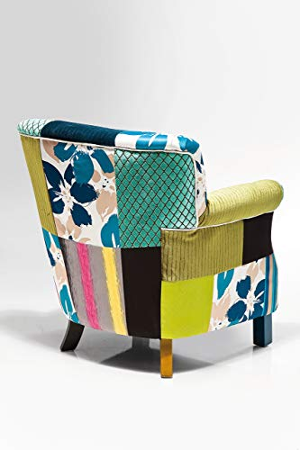 Kare Design Sessel Patchwork Stripes, Relaxsessel mit Armlehnen, Lounge TV Sessel im Retro-Look,...
