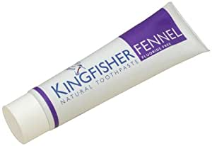 Kingfisher 100 ml Fluoride Free Fennel Toothpaste - 3-Pack