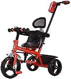 Passeggini Bambini cavallo a dondolo trike Triciclo Caratterizzato Retro telaio in acciaio di altezza del push corsa in triciclo Baby Bike coperta e Forniture per bambini