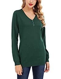cheap for discount ff991 4a96e Amazon.it: maglione scollo a v - Verde / Donna: Abbigliamento