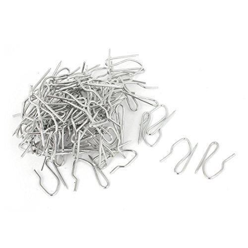 Drapery Curtain nastro Buckram metallo Pinch Pleat ganci tono argento 50PCS - Pinch Pleat Nastro