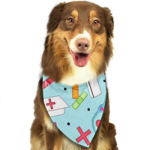 Rghkjlp Love Nurse Dog Bandana Collars Triangle Neckerchief Puppy Bibs Scarfs Pet Scarfs Cats and Baby Scarf Towel -