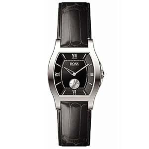 Hugo Boss - 1502033 - Montre Femme - Quartz - Bracelet Cuir Crocodile Noir
