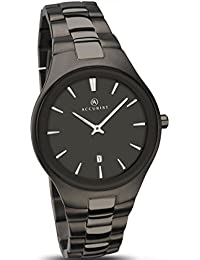 Accurist Men's Quartz Watch with Grey Dial Analogue Display and Gun Metal Stainless Steel Bracelet 7084.01