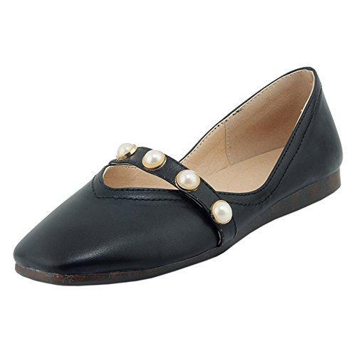 RAZAMAZA Femmes Confort Ballet Plates Shoes Black