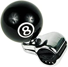 Custom Accessories 16258 Black 8-Ball Style Steering Wheel Spinner Knob