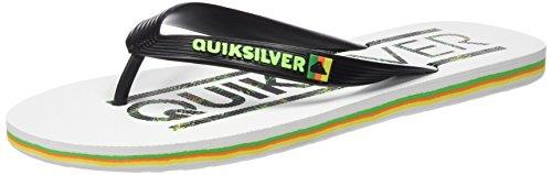 Quiksilver Uomo Molokai Wordmark sandali multicolore Size: 43