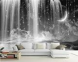 HONGYAUNZHANG Schwarz-Weiß-Meniskus-Muster Benutzerdefinierte Fototapete 3D Stereoskopische Wandbild Wohnzimmer Schlafzimmer Sofa Hintergrund Wand Wandbilder,170Cm (H) X 250Cm (W)