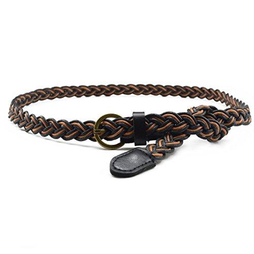 WKAIJCD 105cm Adjustable Fashion Women's Decorative Simple Tassel Waist Belt Tassel Rope Knitted Waist Chain / Rope / Thin Belt With Tassel More Color