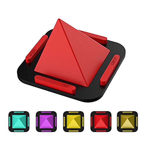 myfei Universal Pyramide Handy Halter, tragbar 360Grad Silikon-Smartphone Ständer Phone rutschfeste Pad Rack Halterung für Smartphones Tablet (Motorrad Rack-haken)
