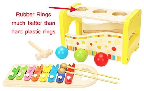 Toys of Wood Oxford Martillo y pelotas y xilófono Martillo y Clavijas juguetes de madera para bebe