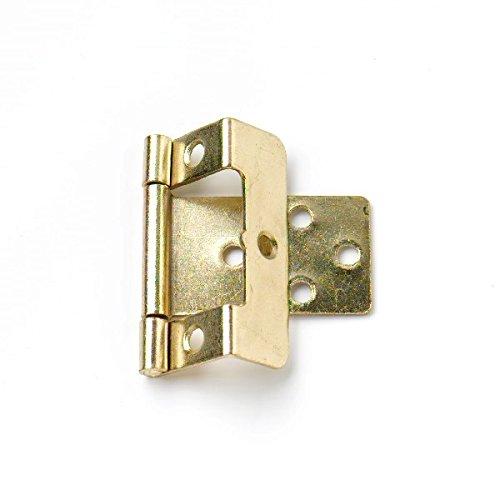 Bulk Hardware bh04895gekröpft Flush Scharnier electro-brassed 50mm x 16mm, Set 20Stück -