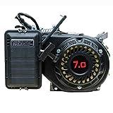 Moteur à essence 7 CV par exemple pour générateurs de courant 3,3 kW, pompe à eau, plateau de secours, tondeuse à gazon, etc.