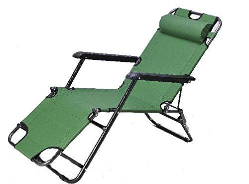 Liege SUN RELAX Liegestuhl Gartenliege Sonnenliege IRISH GREEN Tragkraft bis zu 120 kg