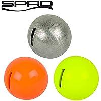 Spro Spiral Weights Assorti - 3 Bleigewichte für Spiral Stinger, Gewichte für Gummifischmontage, Angelbleie für Softbait Spirale