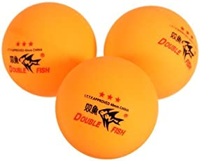 WayGo New 3PCS Double Fish ITTF Approved 3-Stars Table Tennis Ping Pong Ball 40mm for Match