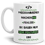 Tassendruck Berufe-Tasse Programmierer Machen Nie Fehler, Sie Bauen Features Ein #Farbe#/Job/mit Spruch/Kollegen/Arbeit/Fun/Mug/Cup/Geschenk Qualität - 25 Jahre Erfahrung Weiss