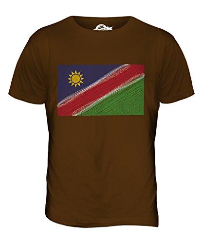 CandyMix Namibia Kritzelte Flagge Herren T Shirt Braun
