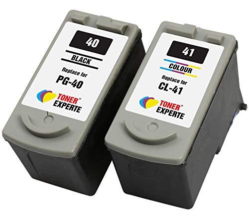 PG40 PG-40 CL41 CL-41 TONER EXPERTE 2 Cartucce d'inchiostro compatibili con Canon Pixma iP2600 MP140 MP460 iP1800 iP1900 iP2500 MP190 MP210 MP220 MP170 MP180 MP160 MP470 MX300 MX310 | Alta Capacità