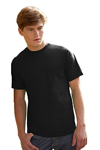 Maglietta Maniche Corte Uomo Fruit Of The Loom Valueweight T-Shirt Manica Corta, Colore: Nero, Taglia: XXL