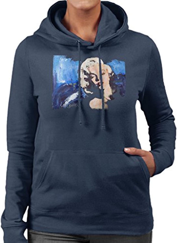Sidney Maurer Original Wouomo Portrait of Marilyn Monroe Blonde Bombshell  Wouomo Original Hooded Sweatshirt 393235 b04814a86042