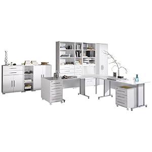 MAJA-Möbel 1208 3956 Büroprogramm SYSTEM, Icy-weiß - weiß Hochglanz
