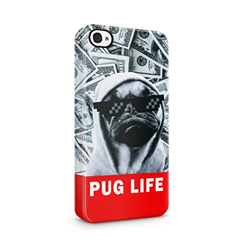 Pug Pattern Apple iPhone 5 , iPhone 5S , iPhone SE Snap-On Hard Plastic Protective Shell Case Cover Custodia Thug Pug
