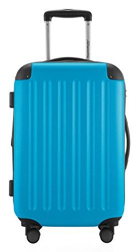 HAUPTSTADTKOFFER® 49 Liter Handgepäck · SPREE · TSA · MATT · NEU 4 Doppel-Rollen · (in 12 Farben) + LogiLink® Flugzeug Audio Adapter (Cyan Blau) Cyan Blau