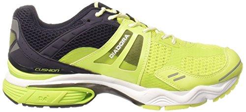 Diadora N-7100-1 Chaussures De Sport, Homme Noir / Vert Citron Vert